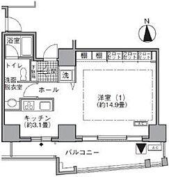 東京都港区海岸1丁目の賃貸マンションの間取り