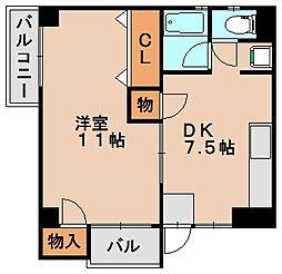 サンコーポ光3[4階]の間取り