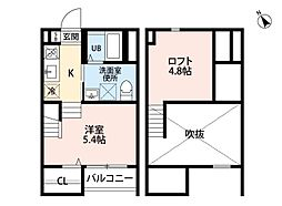 A・CORSO八田(アコルソハッタ)[2階]の間取り