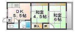 シャルム南台II[3階]の間取り