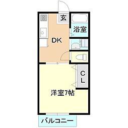 マイステージ3番館[1階]の間取り