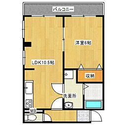 レジオンアルファ[4階]の間取り