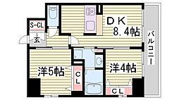 エステムプラザ神戸・大開通ルミナス[9階]の間取り