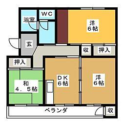 コーポ汐入[1階]の間取り