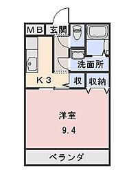 ユートピア垣鼻II[3階]の間取り