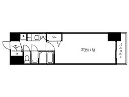 Osaka Metro中央線 九条駅 徒歩2分の賃貸マンション 9階1Kの間取り