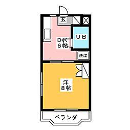 メゾンドプルミエル[1階]の間取り