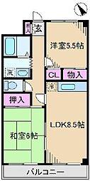東京都足立区新田2丁目の賃貸マンションの間取り