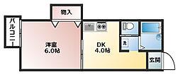 PLUM ONE[2階]の間取り