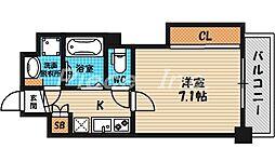 ミラージュパレス北梅田[9階]の間取り
