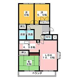第2トータス[2階]の間取り