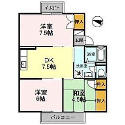 セジュール鳳[2階]の間取り