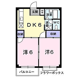 エルディム石川B[1階]の間取り