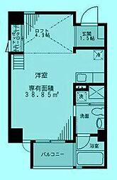 BRAVEL M3[6階]の間取り