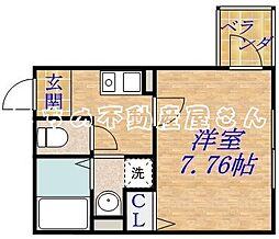 クリアルーチェ[2階]の間取り