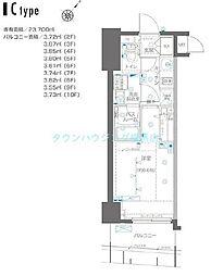 ZOOM横浜関内〜ズーム〜 8階1Kの間取り