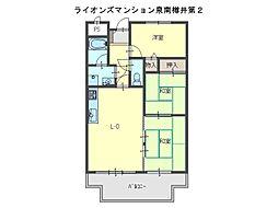 ライオンズマンション泉南樽井第2[6階]の間取り