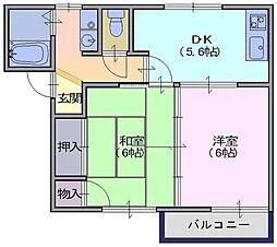 フレグランスU[1階]の間取り