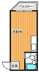 コーポナカノ[102号室]の間取り