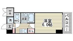 エステムコート芦屋西[3階]の間取り