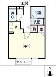 アネシス伏屋[1階]の間取り