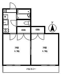 アリスト桜台[102号室号室]の間取り