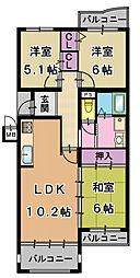 コモンシティ星田アステージ3階Fの間取り画像