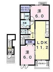 寺庄フォレストハイツ[2階]の間取り