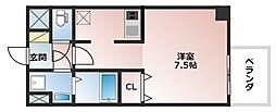 レオンコンフォート上本町[6階]の間取り