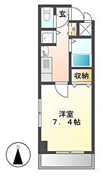 プレサンス桜通り葵[5階]の間取り