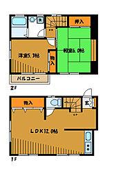 [テラスハウス] 東京都小金井市貫井北町 の賃貸【/】の間取り
