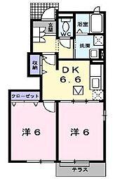兵庫県高砂市松陽1丁目の賃貸アパートの間取り