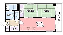 兵庫県西宮市小曽根町3丁目の賃貸マンションの間取り