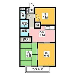 サープラス翔C[2階]の間取り