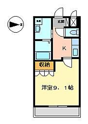 シャルマン桂[1階]の間取り