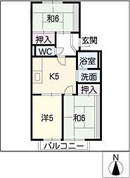 キャスティ犬山[1階]の間取り