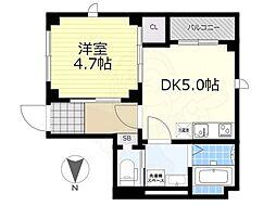 JR総武線 両国駅 徒歩13分の賃貸マンション 1階1DKの間取り