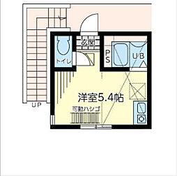 神奈川県横浜市中区打越の賃貸アパートの間取り