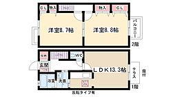 [テラスハウス] 愛知県長久手市岩作蛇洞 の賃貸【/】の間取り
