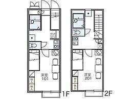 レオパレスラピュタ[2階]の間取り