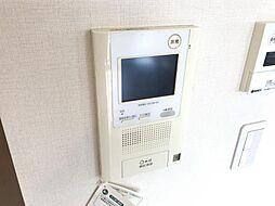 モニター付きインターホンでセキュリティも安心です。