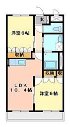 コンフォースさくら[3階]の間取り
