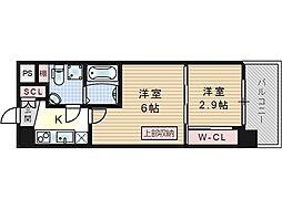 SERENITE福島scelto[11階]の間取り