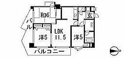 エレガンスコトブキ[8階]の間取り