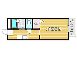 兵庫県姫路市御立東5丁目の賃貸アパートの間取り