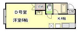 東京都港区南麻布3丁目の賃貸アパートの間取り