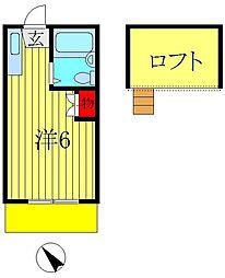 ロフティドリームNO1・2[1-101号室]の間取り