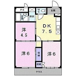 シティハイツ本城[1階]の間取り
