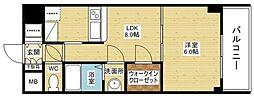ノルデンタワー新大阪アネックス[25階]の間取り