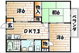 コーポ畠田[2階]の間取り